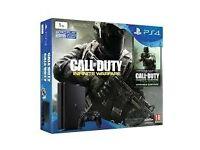 PS4 SLIM 500GB BLACK Call of Duty Infinite Warefare SEALED UP