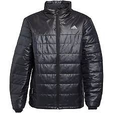 Black Wet Look Adidas Puffer Style Coat Worn Once UK Medium
