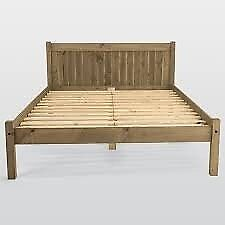 Maya Wooden Frame Double Bed Frame And Mattress Collection Only