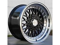 "brand new BBS RS style Alloy wheels 16"" inch x 9j 5x100 Toyota Avensis carina celica alloys wheel"