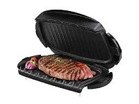 Used George Foreman 5-Burger Grill with Removable Plates