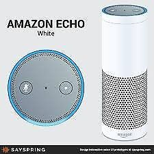 NEW Amazon Echo, White (previous generation) (RRP £150/ SALE £80)