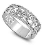 Womens Sterling Silver Rings