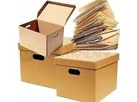 *NEW* A4 Archive Document Nik-Nak Removal Storage Packing Cardboard Boxes £3.50