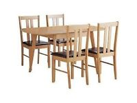 Witley Extendable Solid Wood Table & 4 Chairs