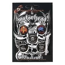 Motorhead Badges (Pack Of 5)