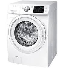 Laveuse électrique SAMSUNG 27 po, 4.8 pi³,Chauffe-eau, Couleur Blanche, (SKU:1124),  Modèle : WF42H5000AW