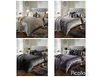 BRAND NEW TOP QUALITY DOUBLE DUVET SETS. FOUR COLOURS AVAILABLE.