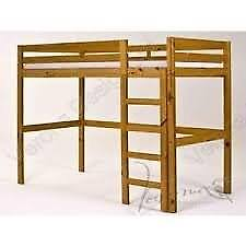 Bunk Bed with table underneath - Golden Pine