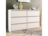 New Ikea Chest of 6 drawers KULLEN White