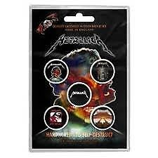 Metallica Badges (Pack Of 5)