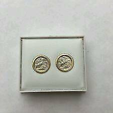 9CT GOLD ST GEORGE EARRINGS £35