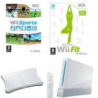 Wii, 2 Remote, Wii FIT with Fitness Board + 3 Games (Priced 2 $)