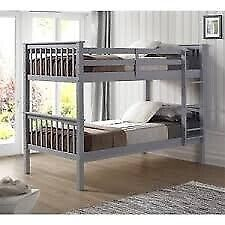 💖STYLISH & COMFORTABLE🔵KIDS BUNK BED-Single Wooden Bunk Bed Frame in White and Oak Color Options