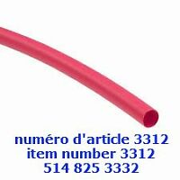 Red Heat Shrink Tubing 3.5mm