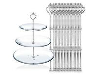 4 Tier Natural Slate Cake Stand Afternoon Tea Wedding Plates Party Tableware