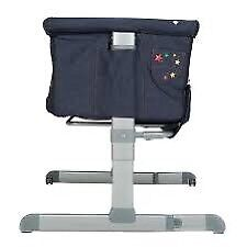 Chicco next2me denim and stars bedside crib for 0-6m