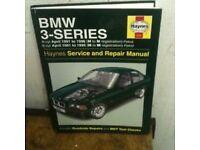 Haynes service manual BMW 3 series