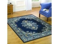 "Very Large Traditional Classic Rug in blue 220 x 320 cm (7'3"" x 10'6"") Carpet"
