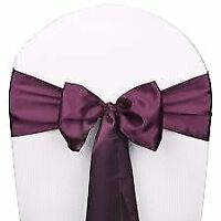Wedding chair covers / sashes for rent