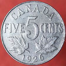Canadian Nickel coins 1922 t0 2015