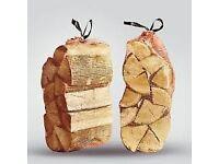 log firewood bagged 3 x for £10