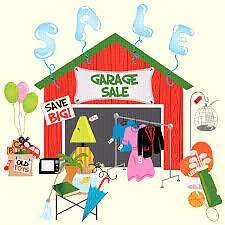 "Huge garage sale ""one day only"""
