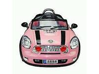 Childs mini pink ride on