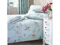Dunelm beautiful birds double duvet cover and pillow cases - brand new
