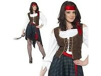 CAPTAIN / CARIBBEAN PIRATE FANCY DRESS OUTFIT SIZE 12/14 PARTY OR HEN DO