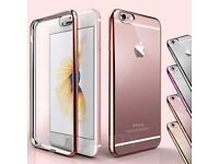 Brand new iphone 7 Clear Gel Back Cover rose gold tone-free UK P&P