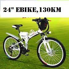 "Weekly Promotion!  24""  Aluminum alloy Folding  Mountain eBike,  130km, black  $1399(was $1599)"