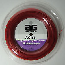 AG SYNTHETIC GUT RED 1.30 TENNIS  STRING REEL , 100 M , NEW