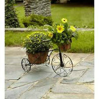 Metal Tricycle / Bicycle Planter Holder Stand Patio Garden Oasis