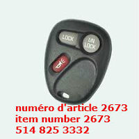Entry Key Remote Fob Shell Cover Case for Chevrolet Cadillac