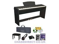 Chase P-50BK Digital Piano In Black With L-Pak 88 Notes Fully Weighted Hammer Action Piano Keys,
