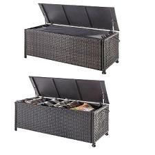 Geflecht Kissenbox mit Verkleidung 118 x 51,5 x 59 cm