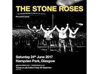 Stone roses tickets x2 standing hampden
