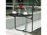 Folding balcony table - brand new
