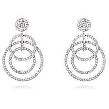 Swarovski Purity Crystal Multi Circle Earrings
