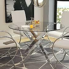 Felisha Glass Dining Table by Orren Ellis NEW ** 5 CORNERS FURNITURE **