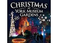 Christmas At York Museum Gardens tickets x 4 (2 adult, 2 free under 4) Sat 23/12/17 4:45pm trail