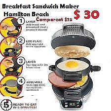 New out of the box Breakfast Sandwich Maker Hamilton Beach