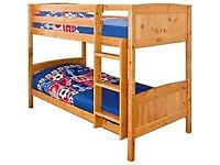 Kids Bed New Single Wooden Bunk Bed