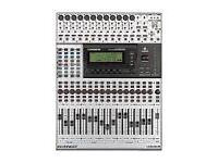 Behringer DDX3216 Digital Mixer + ADT1616 ADAT + AES/EBU Interface.