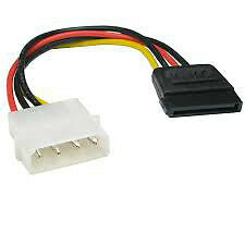 "12 ""4 Pin Serial SATA Power Cable Adapter ATA Suivre