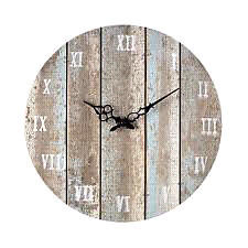"Bombay Co. Distressed looking wooden clock 16"" circular"