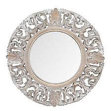 NEW VINTAGE WHITE BAROQUE MIRROR for sale