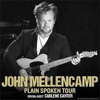 JOHN MELLENCAMP TIX /FLOORS/MAY 6/ BELOW COST/ SAVE $123.00