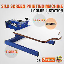 1 Color 1 Station Silk Screen Printing Machine Carousel bundel lot included